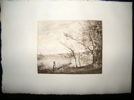 Dujardin after Corot 1885 Photogravure. Mantes la Jolie